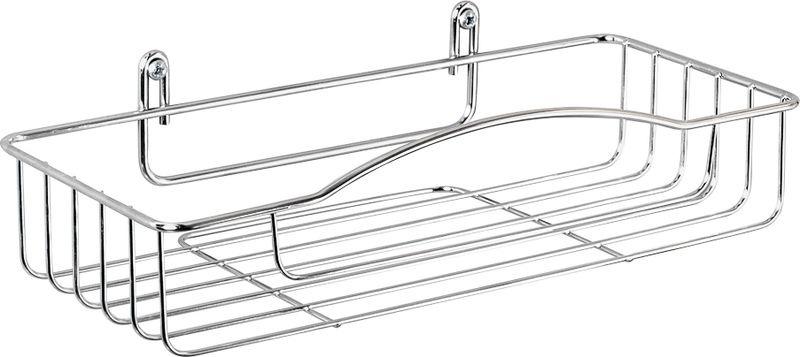 Полка для ванной комнаты Verran прямоугольная, 201-08, серебристый, 27 х 7 х 12,5 см201-08Изделие изготовлено из металла. Имеет хромированное покрытие. Диаметр прутка 2 мм и 3,5 мм. Крепится на шурупы. Использовать сверло D 6 мм. Чистить мягкой салфеткой, щадящим моющим средством.