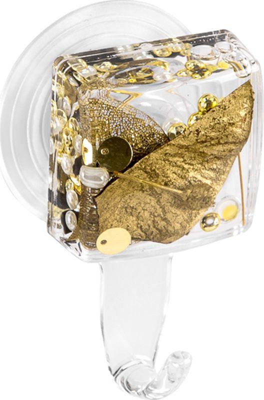 Крючок для ванной Verran Alven, 231-19, золотистый, 4 х 7,5 х 2,5 см
