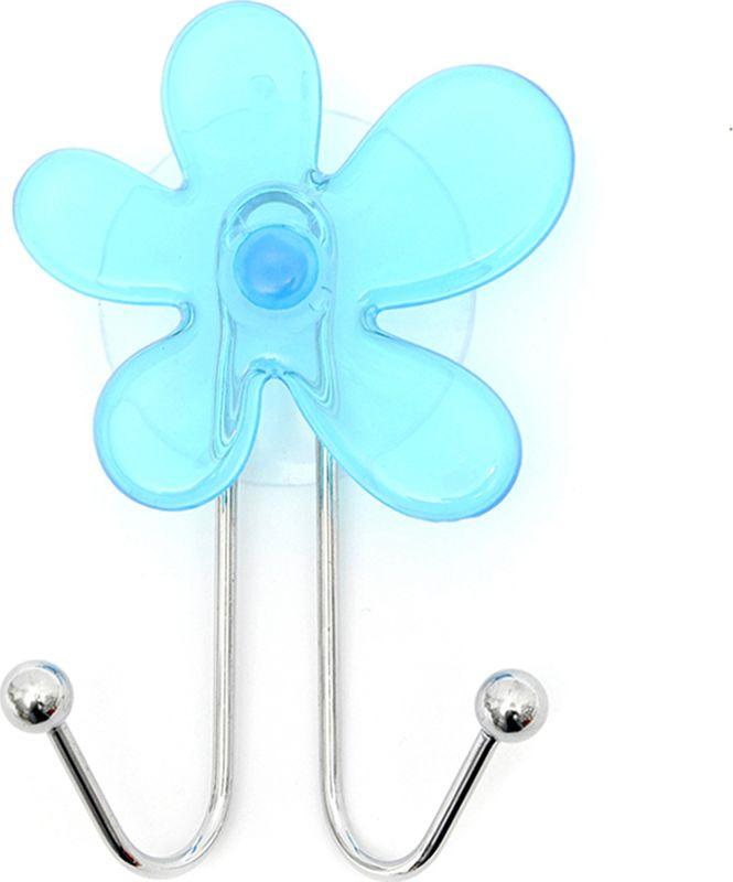 Крючок для ванной Verran Azure Blue двойной, 232-02, серебристый, 7 х 12 х 3,2 см крючок для ванной verran tropics 231 35 синий 4 х 7 5 х 2 5 см