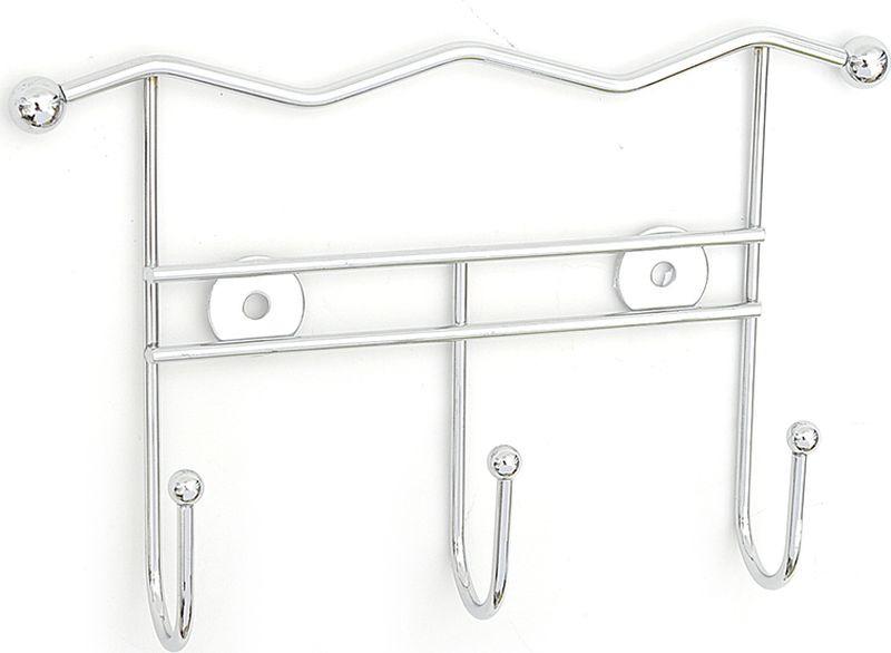 Крючок для ванной Verran тройной, 233-03, серебристый, 21 х 13 х 4 см крючок для ванной verran tropics 231 35 синий 4 х 7 5 х 2 5 см
