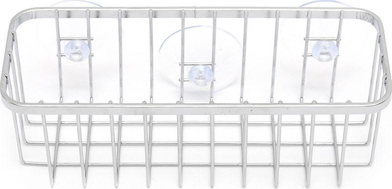 все цены на Подставка для губки Verran на присосках, 240-12, серебристый, 21 х 8 х 7,5 см онлайн