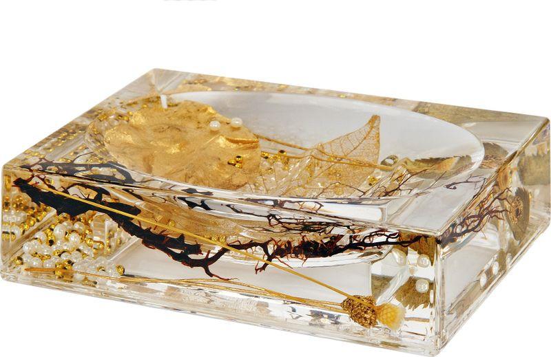 Мыльница Verran Alven, 880-15, золотистый, 9,2 х 3,7 х 13 см мыльница verran lavender 880 14