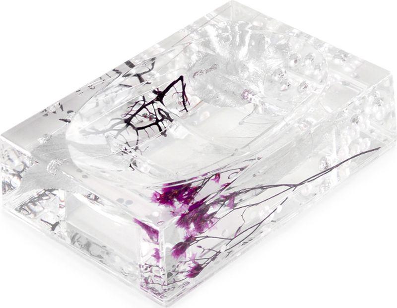 Мыльница Verran Silven, 880-16, серебристый, 9,2 х 3,7 х 13 см мыльница verran lavender 880 14