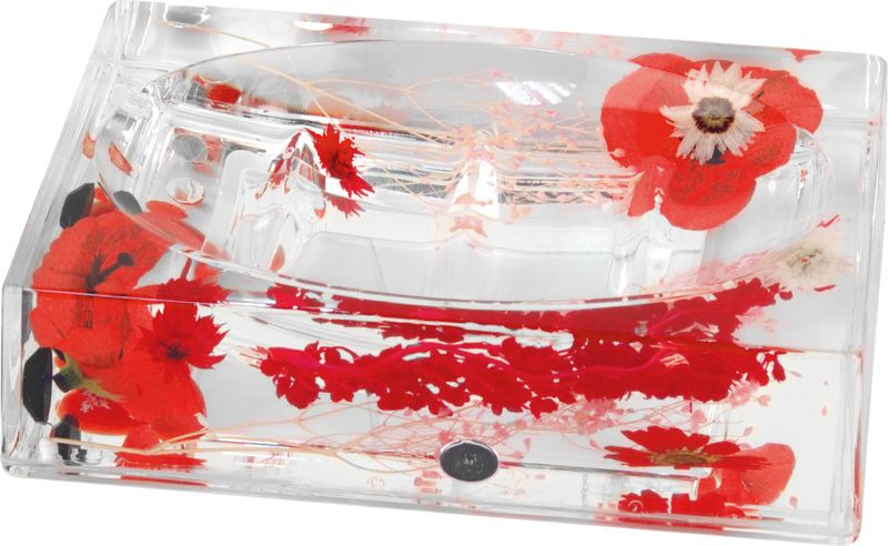 Мыльница Verran Vermilion, 880-20, красный, 9,2 х 3,7 х 13 см мыльница verran lavender 880 14