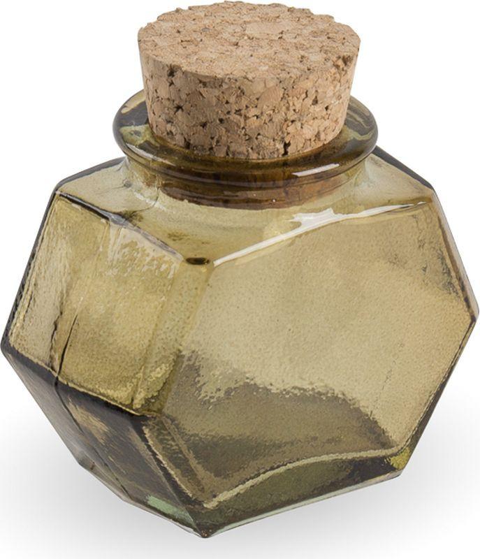 Флакон Moroshka Naturel шестиугольный, xx004-99, зеленый, 50 мл флакон декоративный moroshka naturel шестиугольный цвет коричневый 6 5 х 3 7 х 6 8 см