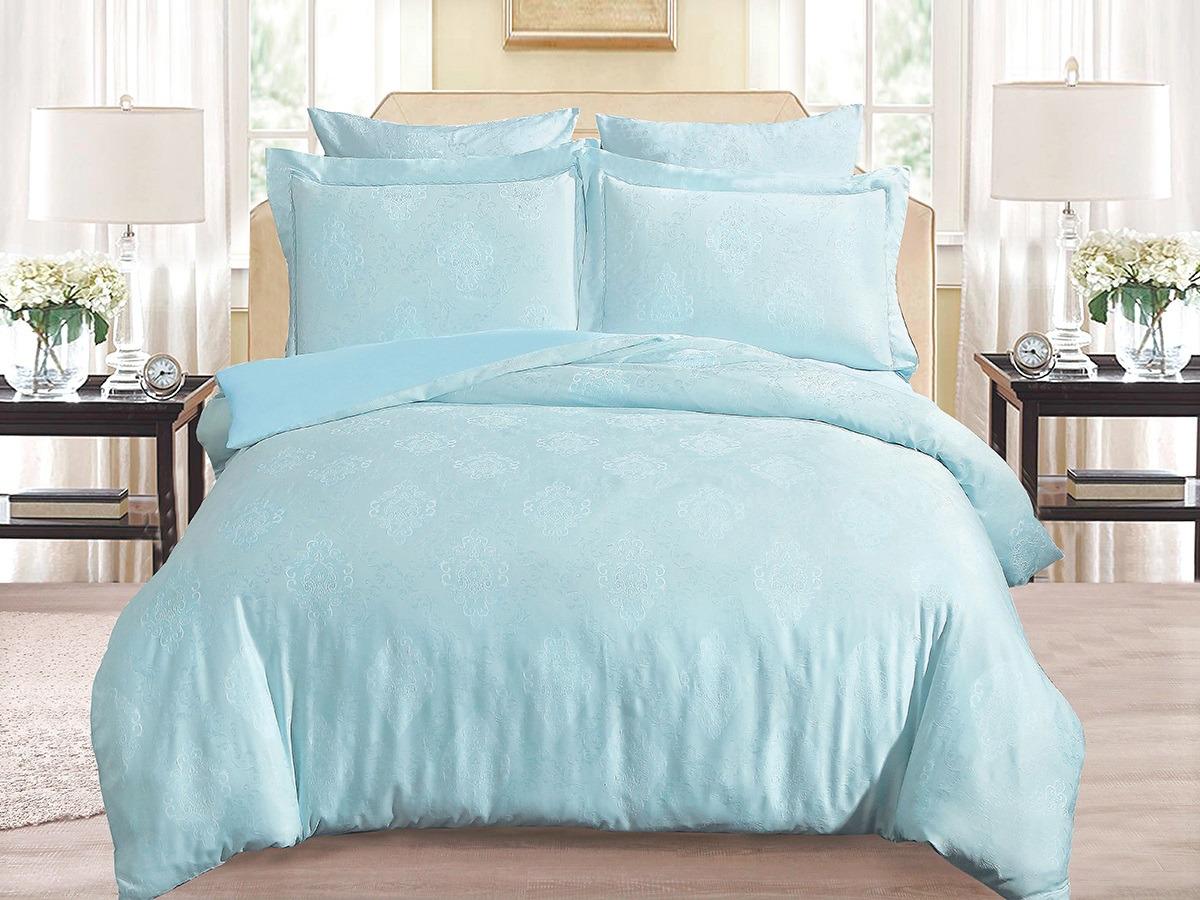 цена Комплект постельного белья Cleo Soft Cotton, евро, 31/013-SC, голубой, наволочки 50х70, 70х70 онлайн в 2017 году