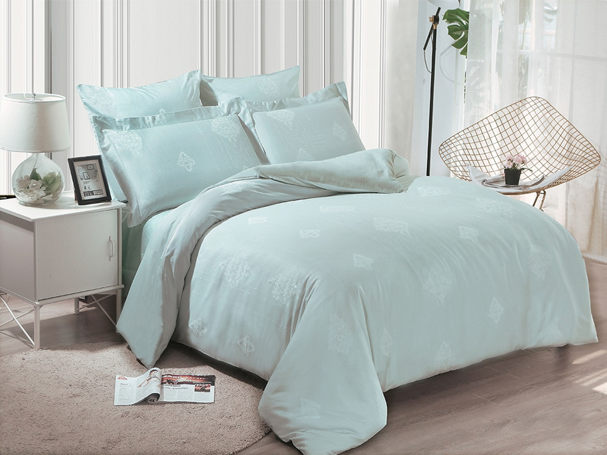 цена Комплект постельного белья Cleo Soft Cotton, евро, 31/016-SC, морской, наволочки 50х70, 70х70 онлайн в 2017 году