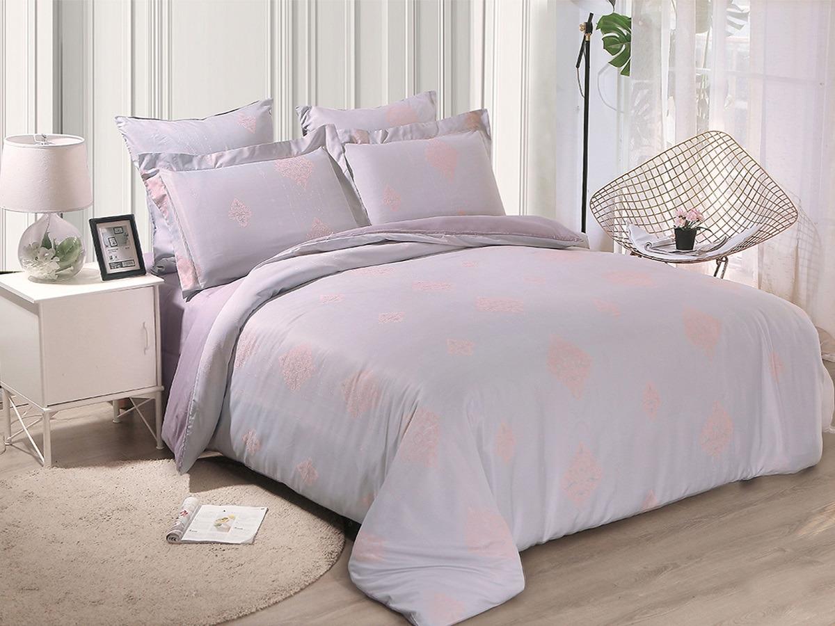 цена Комплект постельного белья Cleo Soft Cotton, евро, 31/018-SC, сирень, наволочки 50х70, 70х70 онлайн в 2017 году