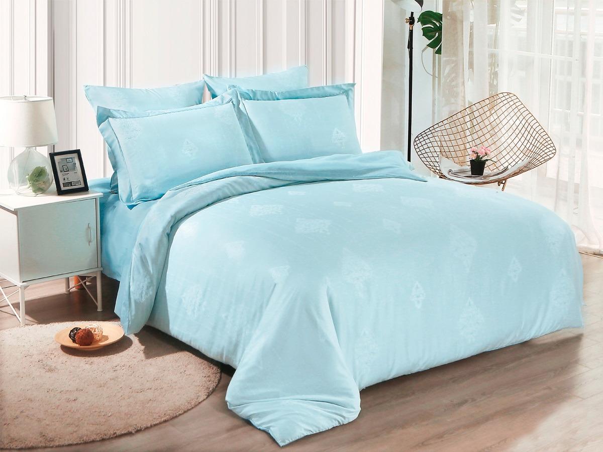 цена Комплект постельного белья Cleo Soft Cotton, евро, 31/019-SC, голубой, наволочки 50х70, 70х70 онлайн в 2017 году