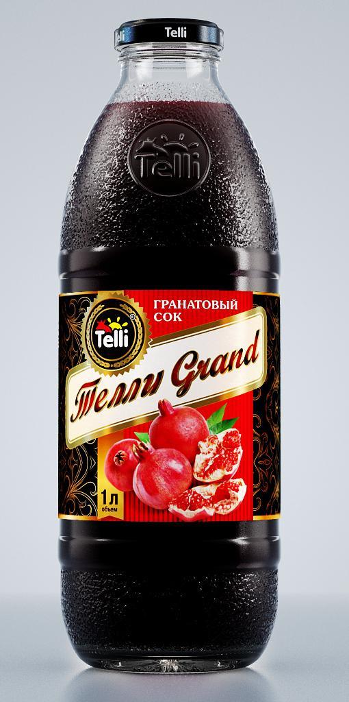 Сок Telli Grand гранатовый, 1 л нектар telli из шиповника и черноплодной рябины 1 л