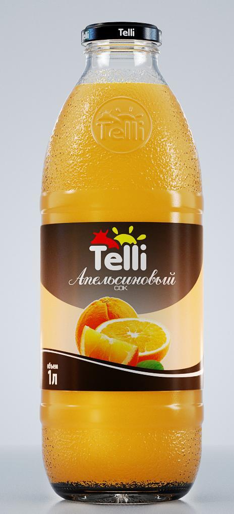 Сок Telli апельсиновый, 1 л