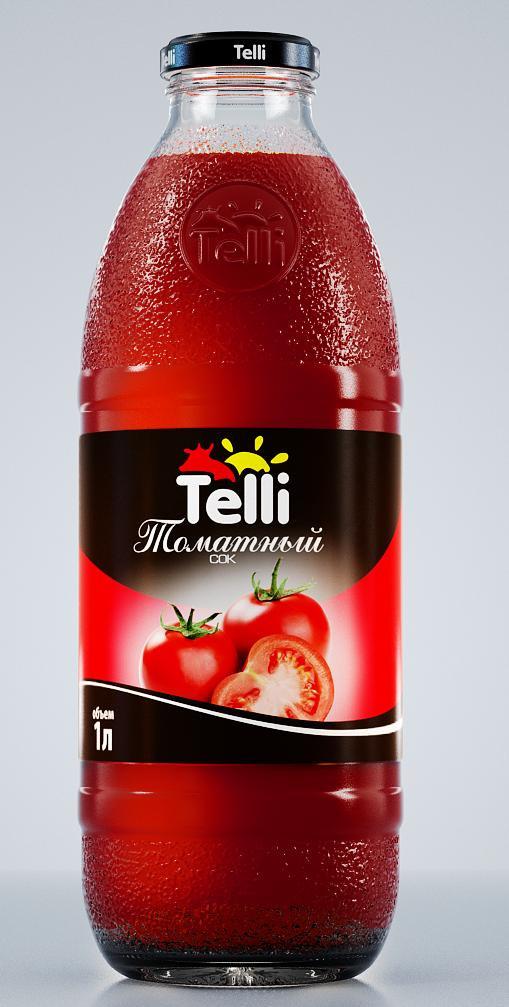 Сок Telli томатный, 1 л