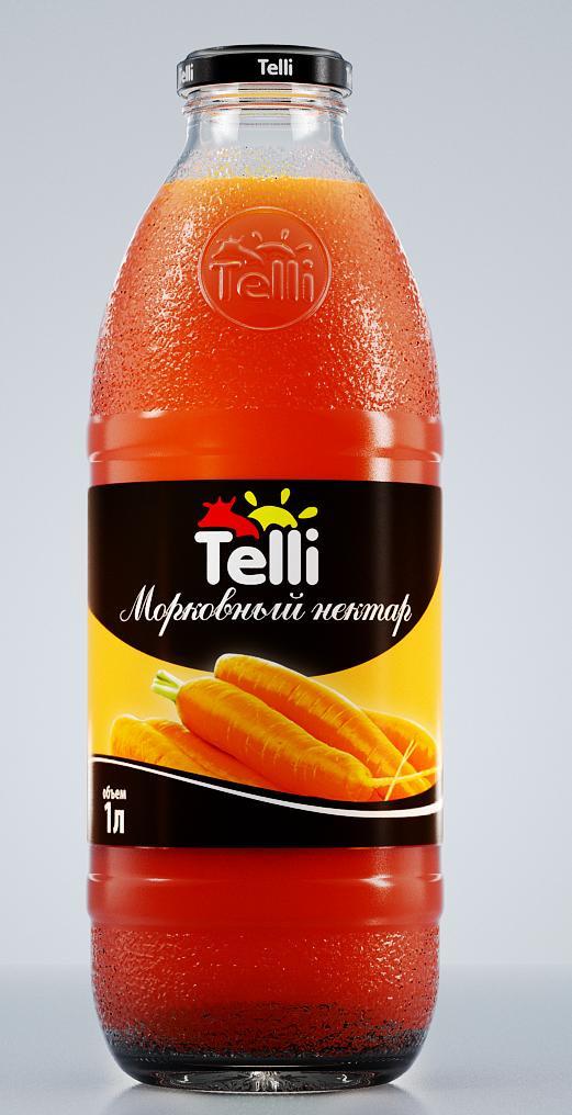 цена на Нектар Telli морковный, 1 л