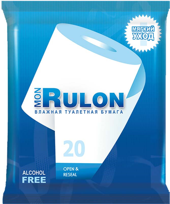 Влажная туалетная бумага Mon Rulon, 15500505, 20 шт