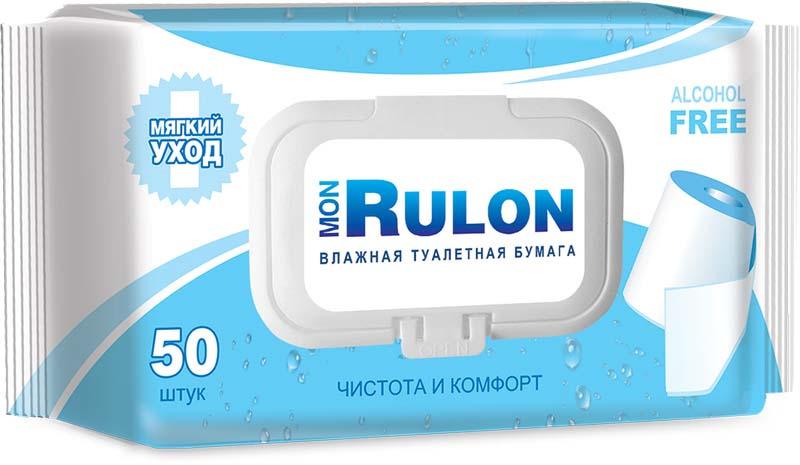 Влажная туалетная бумага Mon Rulon, 15500601, 50 шт
