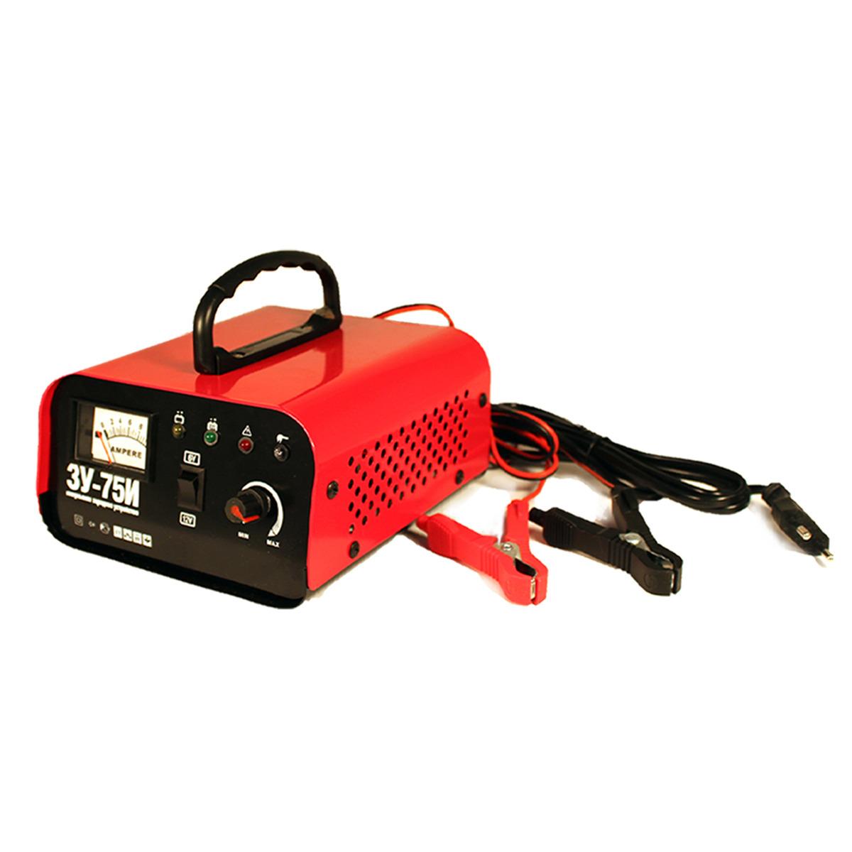 Пуско-зарядное устройство Technoking 46430 автомобильное зарядное устройство technoking зу 75и для аккумуляторов 6 12 в 10 а 46430 красный