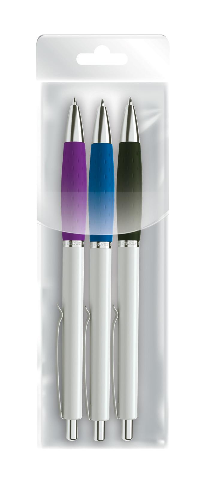 Фото - Набор шариковых ручек ScriNova Wang, 7503-3, цвет чернил синий, 3 шт набор шариковых ручек спираль цвет чернил синий 4 шт