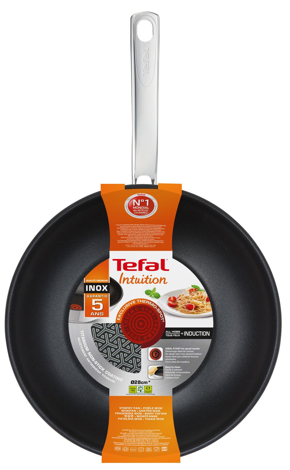 Сковорода-вок Tefal Intuition A7031904, диаметр 28 см цена