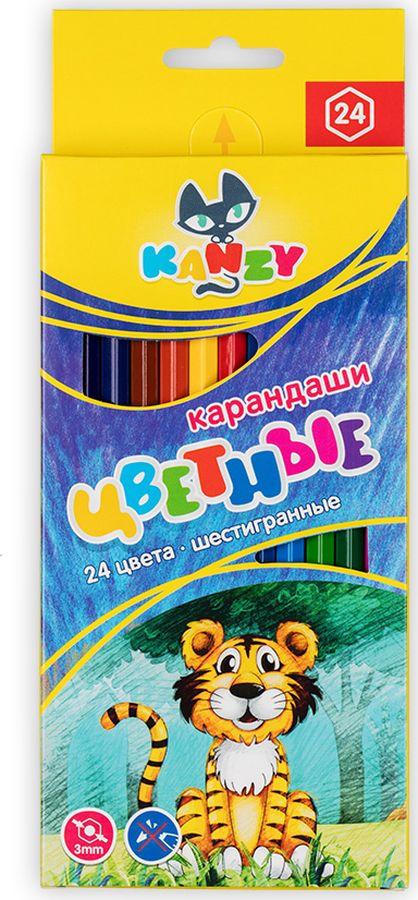 Набор цветных карандашей Kanzy CP-2024 Мой друг тигрёнок, 56558962032, 24 цвета