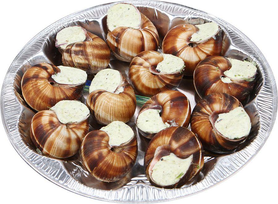Свежие морепродукты Азов Трейд Улитки по-бургундски, тарелка, 170 гCFIFR4001Изделие кулинарное из улиткипищевой варено-мороженой