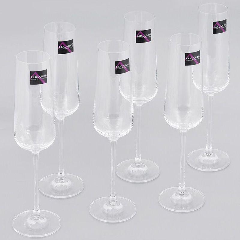 Набор бокалов для шампанского Lucaris Hong Kong, Л8455, 270 мл, 6 шт набор vegetation hong
