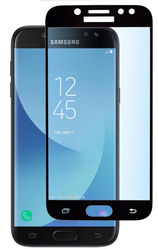Защитное стекло skinBOX, для Samsung Galaxy J5, 4660041404227, черный защитное стекло samsung galaxy j5 2017 г