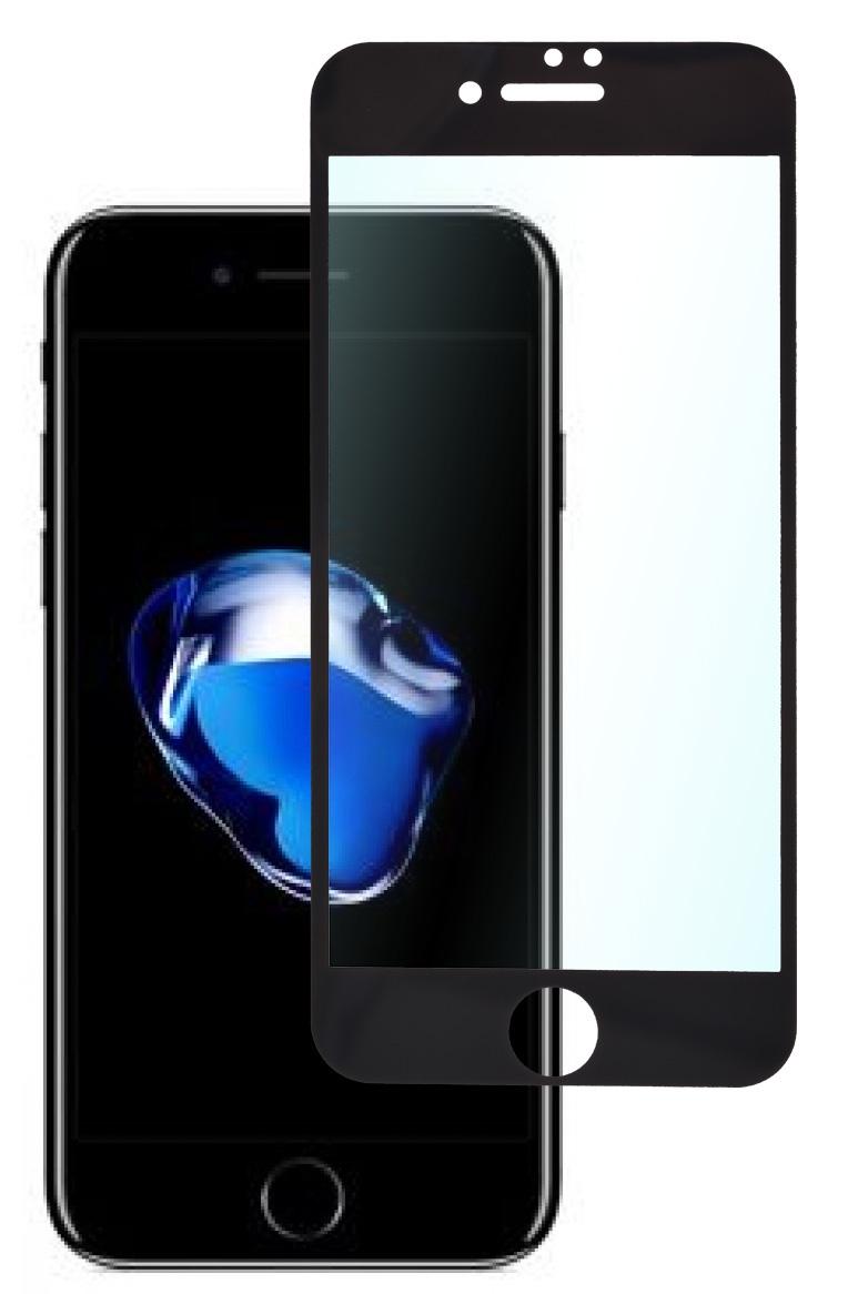 Защитное стекло skinBOX, для iPhone 7/8, 4660041405774, черный защитное стекло 5d glass shield iphone 7 8 ip7dl черный