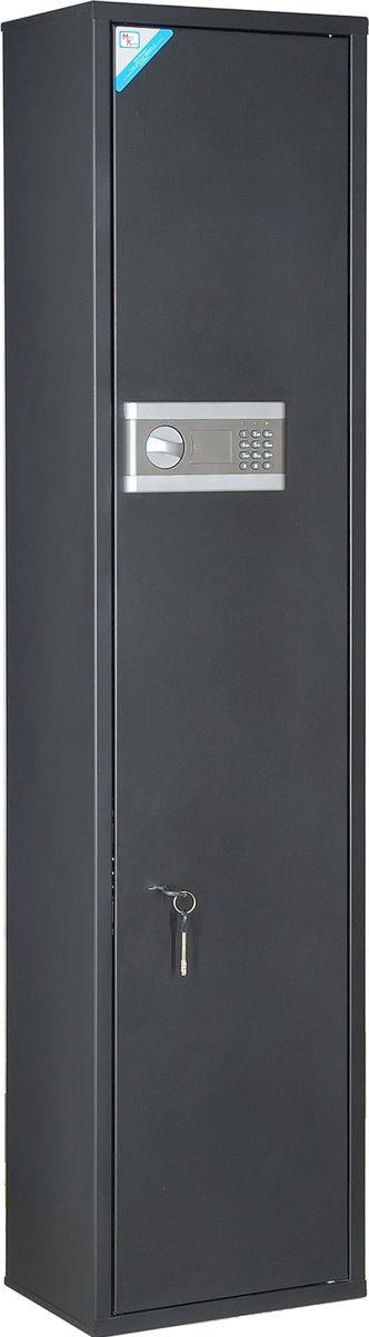 Сейф оружейный Меткон ОШН-5Э, черный, 147 х 35 х 25 см