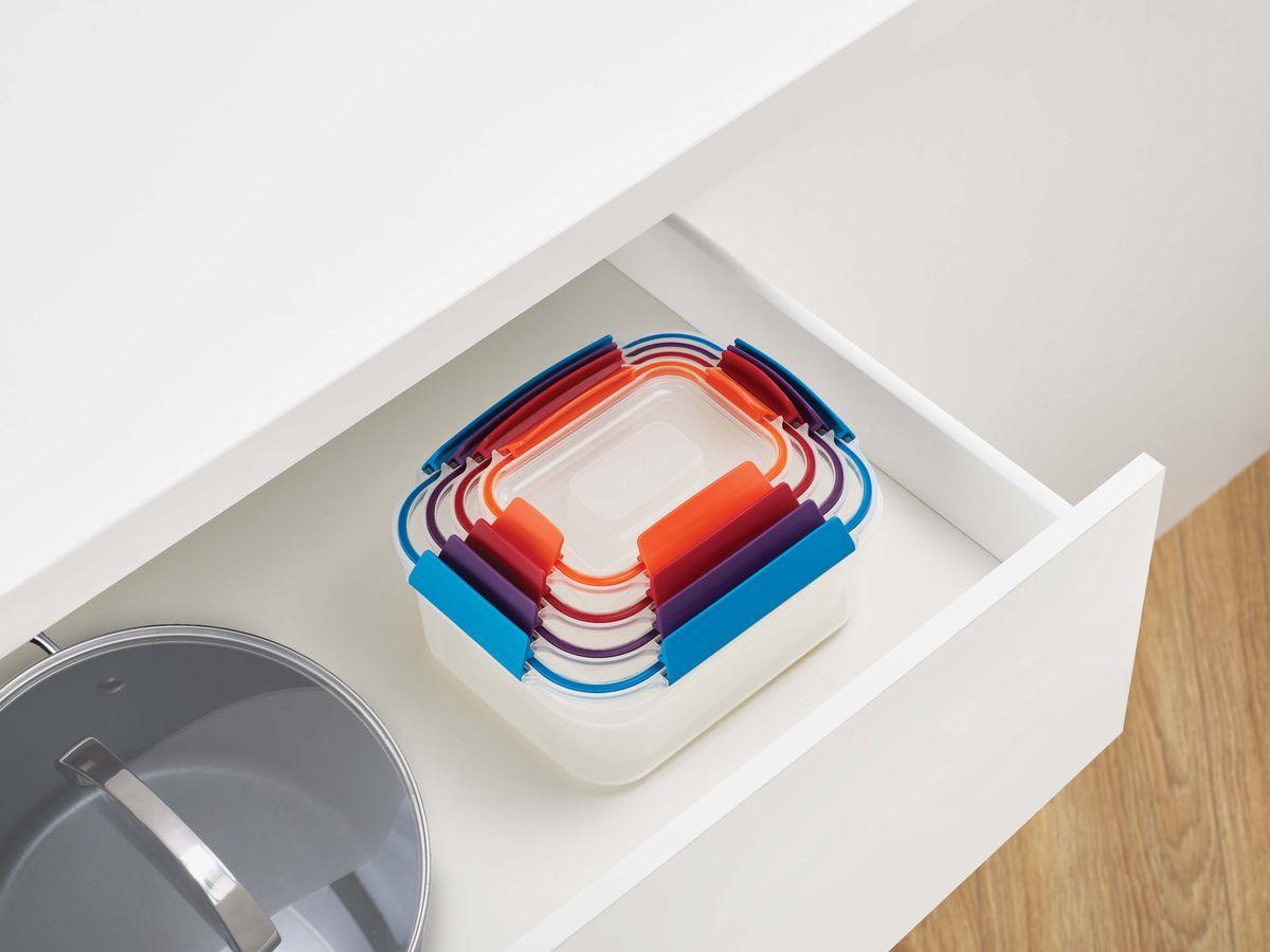 Набор пищевых контейнеров Joseph Joseph Nest Lock, 81090, разноцветный, 4 шт стоимость