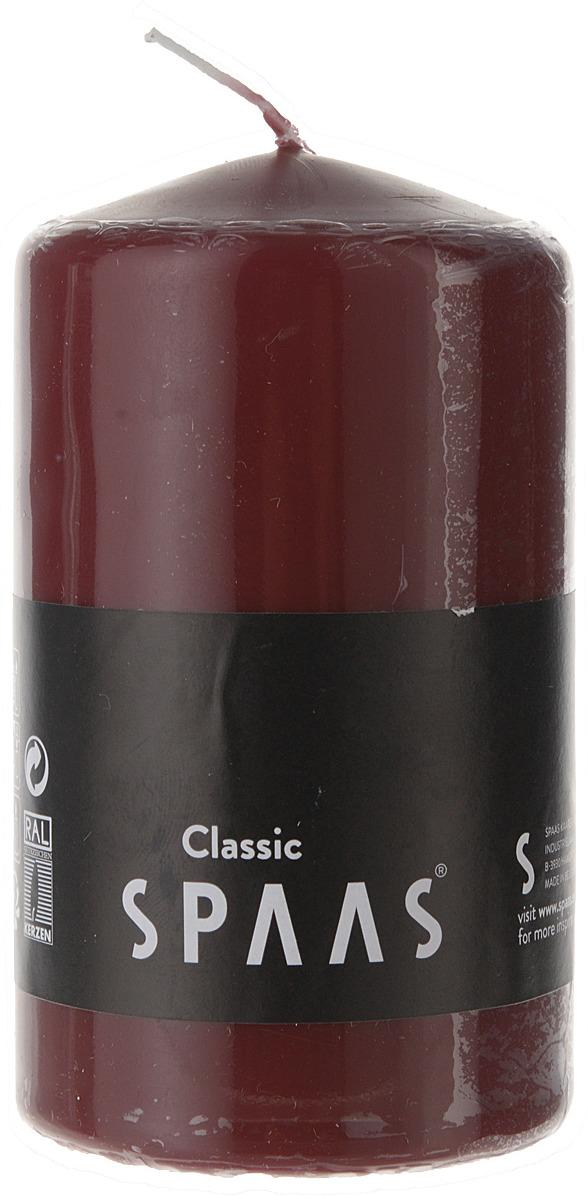 Свеча ароматизированная Spaas, цвет: бордовый, 23 ч, 6 x 10 см053001081Свеча ароматизированная Spaas, цвет: бордовый, 23 ч, 6 x 10 см