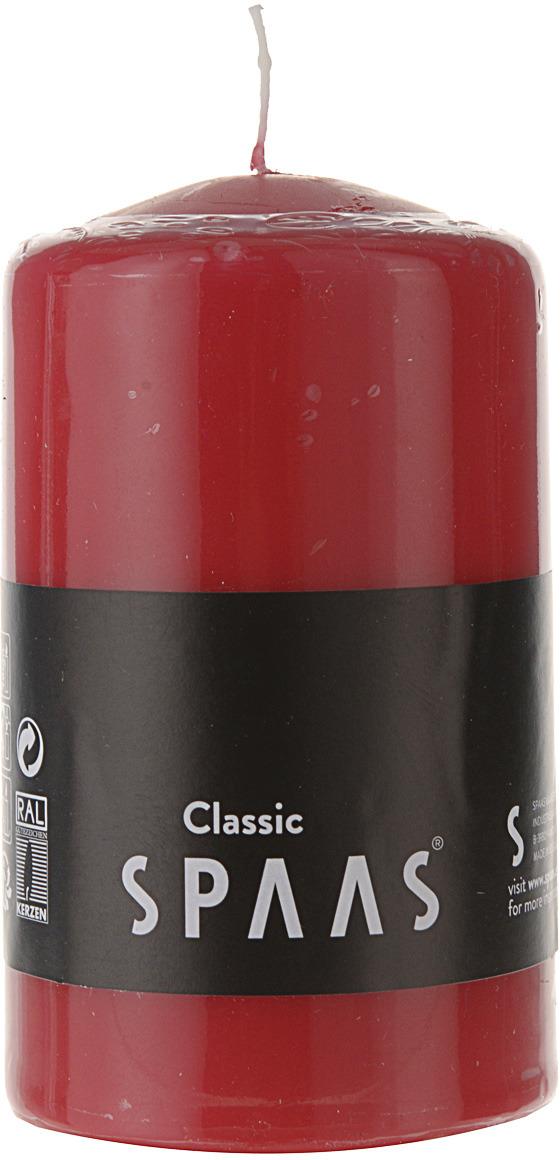 Свеча Spaas, цвет: красный, 23 ч, 6 x 10 см hmily красный цвет вина 32cm x 28cm x 17cm