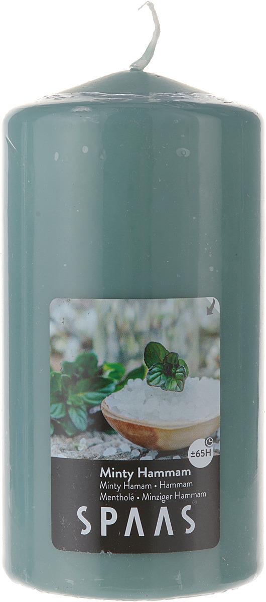 Свеча ароматизированная Spaas Мятный хаммам, 65 ч, 8 x 15 см свеча ароматизированная spaas ванильный пирог высота 15 см