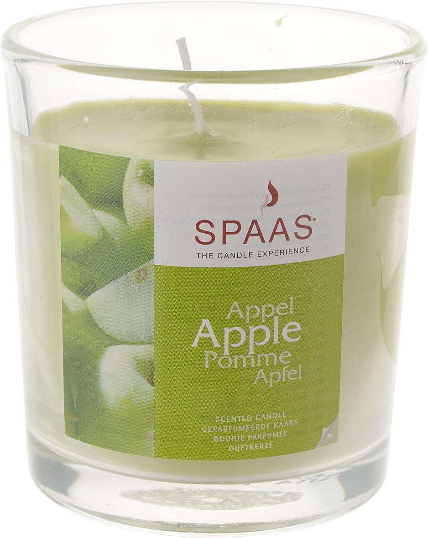 Свеча ароматизированная Spaas Яблоко, в стакане, 25 ч свеча ароматизированная arome enjoy 136582a