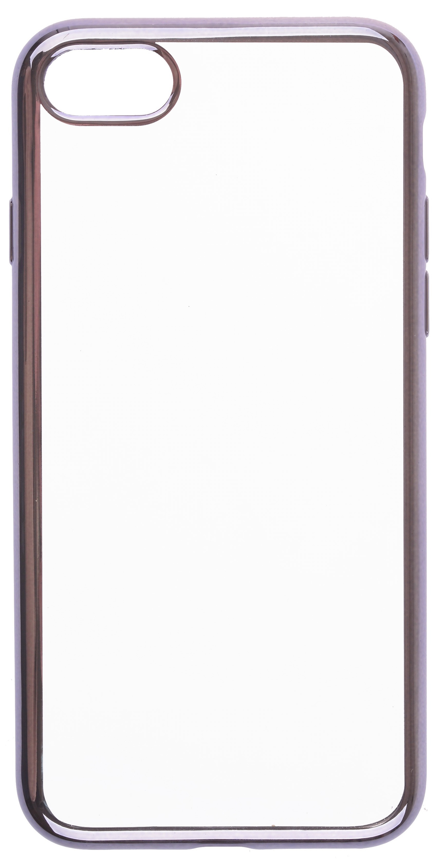 Накладка Skinbox 4People Silicone Chrome Border для Apple iPhone 7 skinbox silicone chrome border color style 1 4people чехол для apple iphone 7 8 green