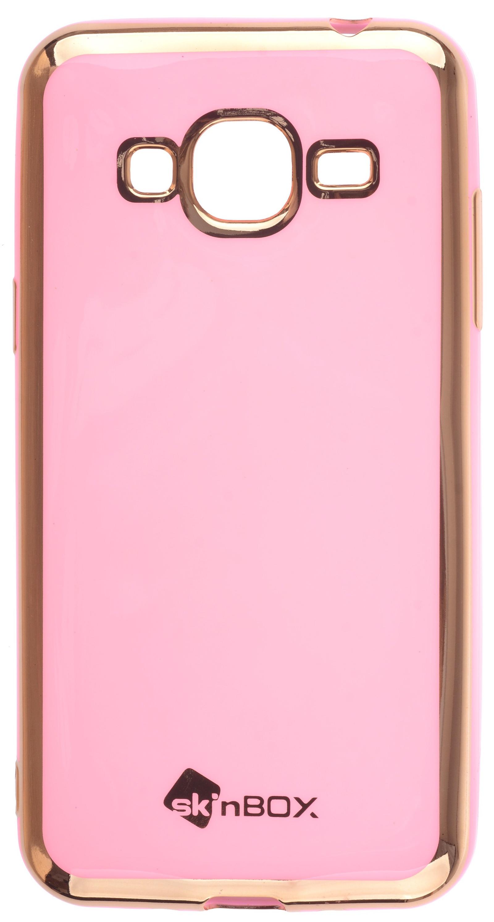 Накладка Skinbox slim silicone color для Samsung Galaxy J3 (2016), 2000000135519, пудра skinbox накладка skinbox slim silicone для samsung galaxy note 7