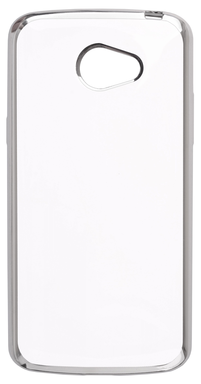 Накладка Skinbox Silicone chrome border для LG K5, 2000000122847, серебристый накладка skinbox для lg g4s 2000000079226 черный