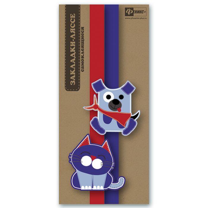 Закладка-ляссе для книг Феникс+ Котик и пес, 45892/60 закладка для книг book darts bookdarts tins 60 moleskine