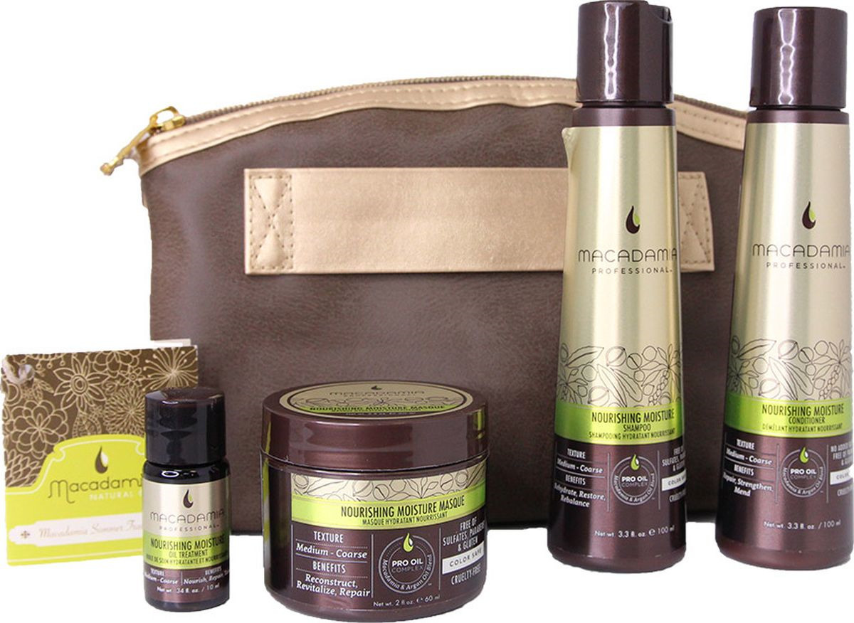 Косметический набор для волос Macadamia Professional Питание и увлажнение, NY600124 macadamia macadamia шампунь восстанавливающий с маслом арганы и макадамии 1000 мл