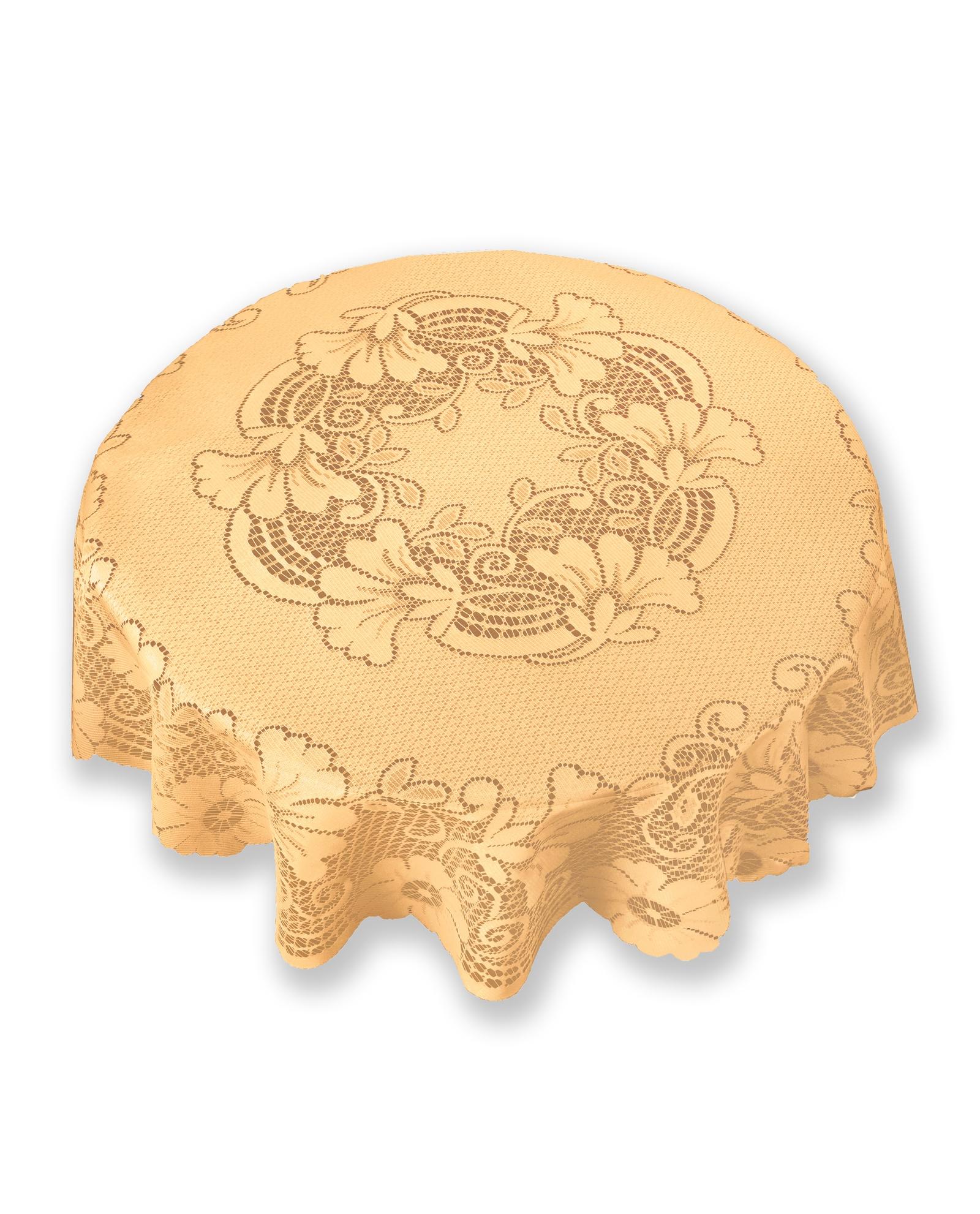 80060 Скатерть круглая D100, 100% п/э, золото