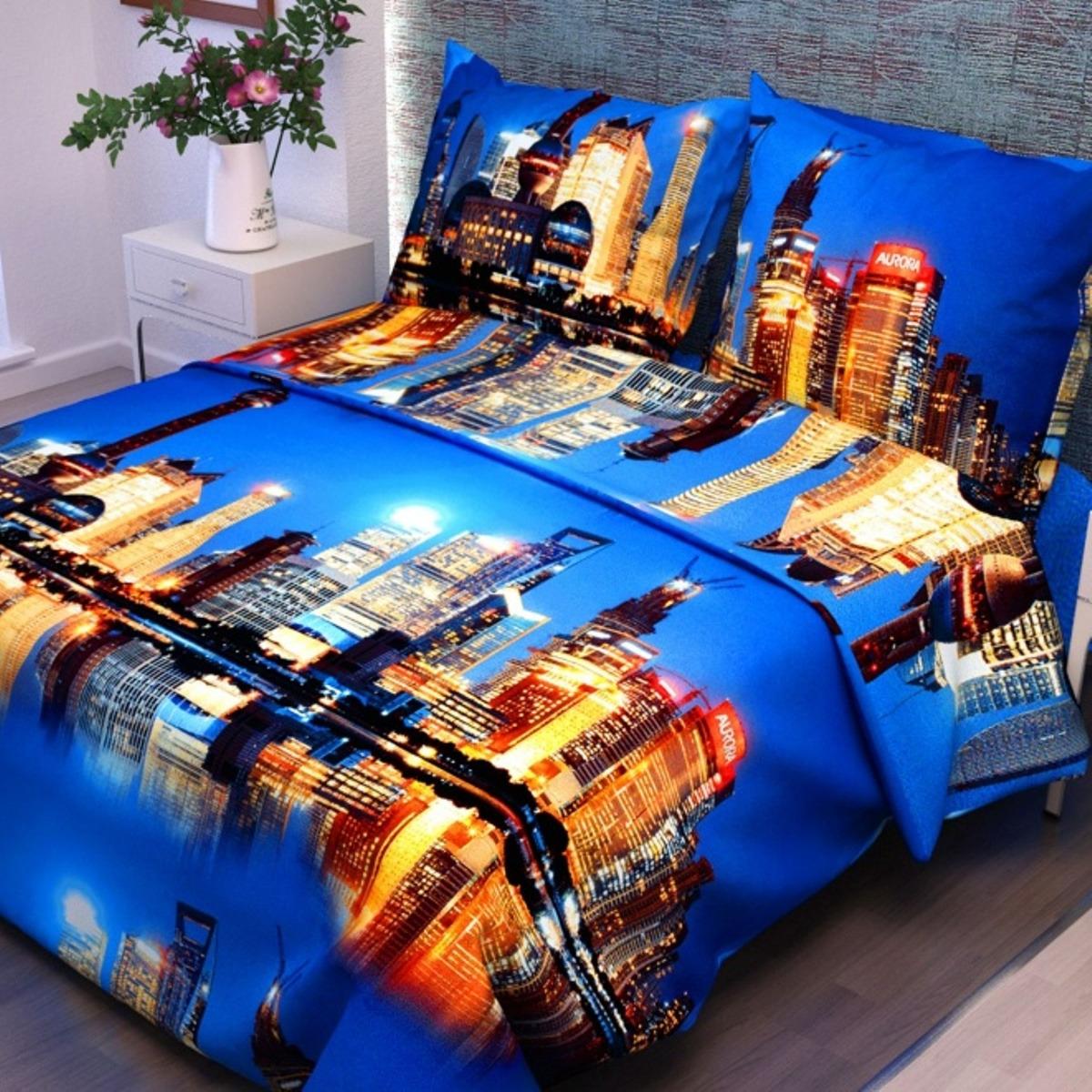 Комплект постельного белья Letto, B403-3, 1.5-спальный, наволочки 70х70, голубой