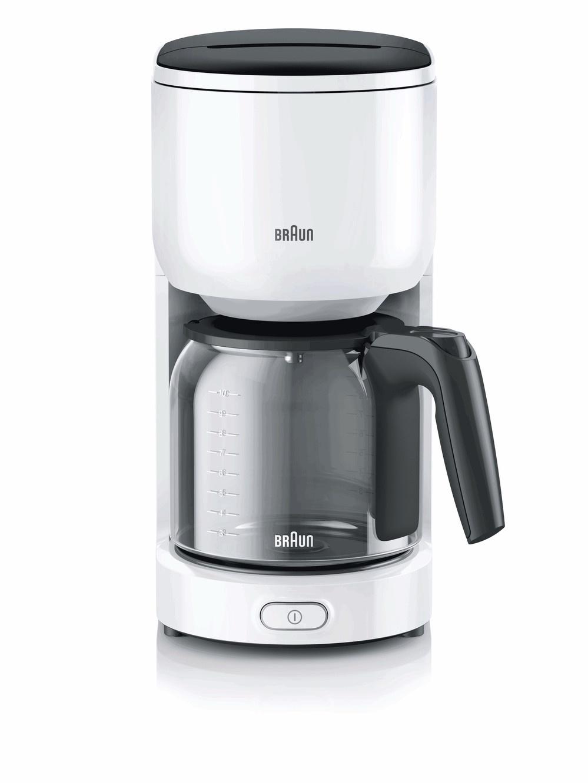 Капельная кофеварка Braun, KF 3100WH, белый кофеварка braun kf3120bk капельная черный [0x13211019]