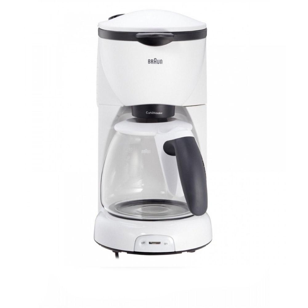 Капельная кофеварка Braun, KF 520/1 WH, белый кофеварка braun kf3120bk капельная черный [0x13211019]