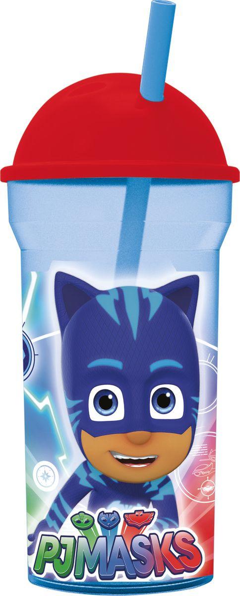 Стакан Stor Герои в масках, с соломинкой и крышкой, 1988, прозрачный, 460 мл стакан stor звёздные войны классика с соломинкой и крышкой 82408 синий 460 мл