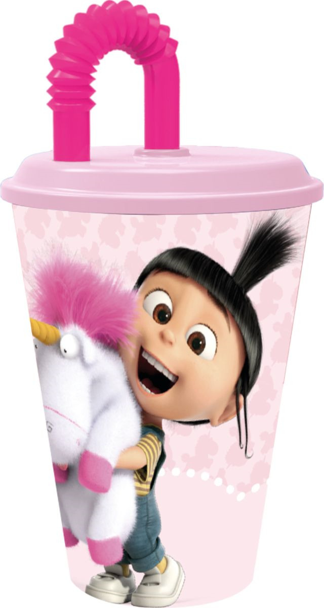 Стакан Stor Флуффи, с соломинкой и крышкой, 7030, прозрачный, 430 мл стакан stor принцесса софия с соломинкой и крышкой 82330 фиолетовый 430 мл