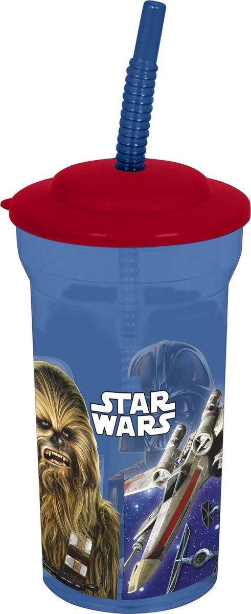 Стакан Stor Звёздные войны Классика, с соломинкой и крышкой, 82408, синий, 460 мл стакан stor микки маус символы с соломинкой и крышкой 22030 синий 430 мл