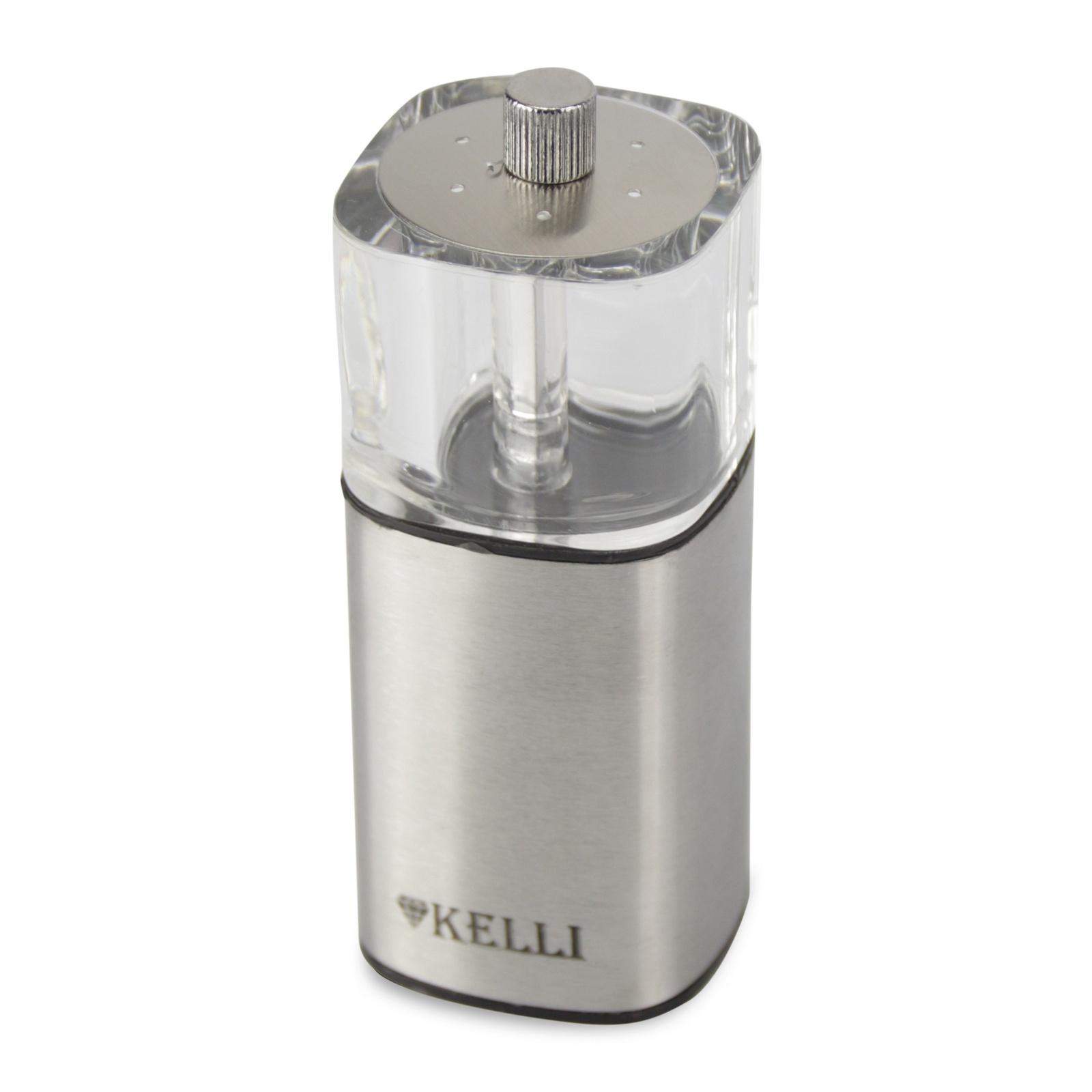 Мельница Kelli для перца-соли, KL-11125, 11.5 см, прозрачный цена