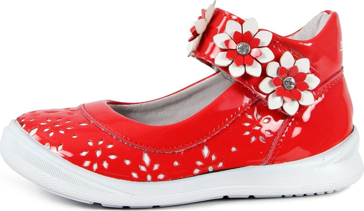 Туфли для девочки San Marko, цвет: красный. 033805. Размер 21033805
