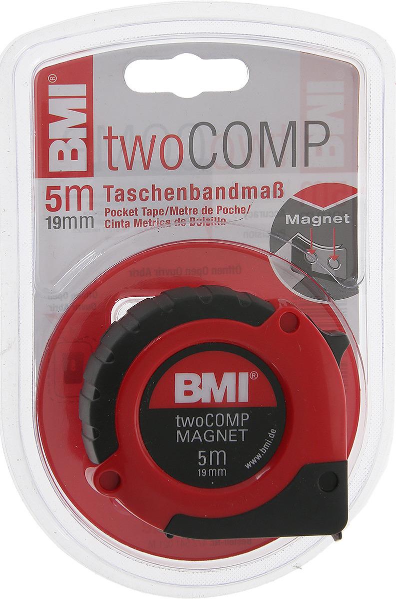 Измерительная рулетка BMI Twocomp Magnetic, 472541021M, 5 м