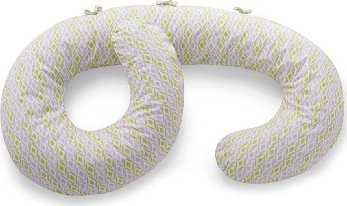"Наволочка на подушку для беременных ""Born Free"", цвет: белый, бежевый, салатовый"