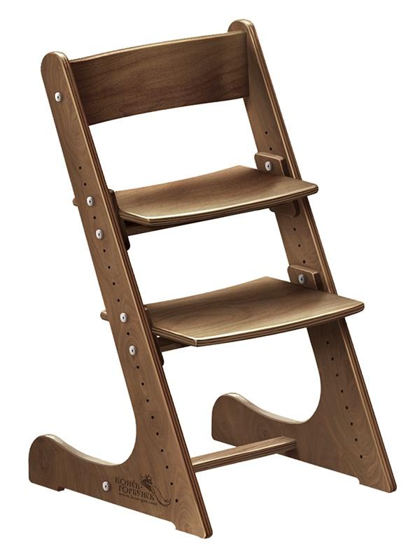 Стульчик для кормления Конек Горбунек Растущий регулируемый стул Конёк Горбунёк Орех коричневый подушки конек горбунек конек горбунек